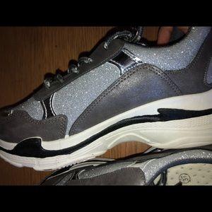 Nasty Gal Shoes - Spark Their Interest Glitter Sneaker